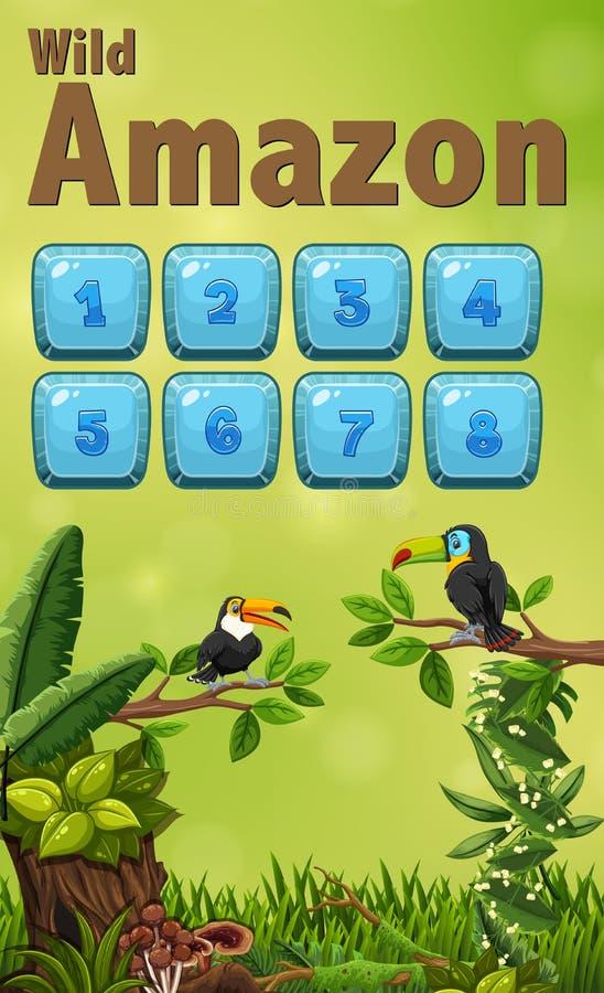 Molde selvagem da natureza de amazon ilustração stock