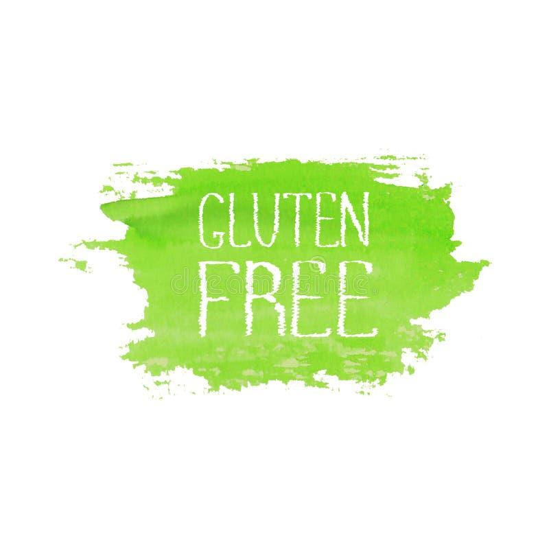Molde sem glúten do projeto do logotipo do conceito do alimento ilustração royalty free