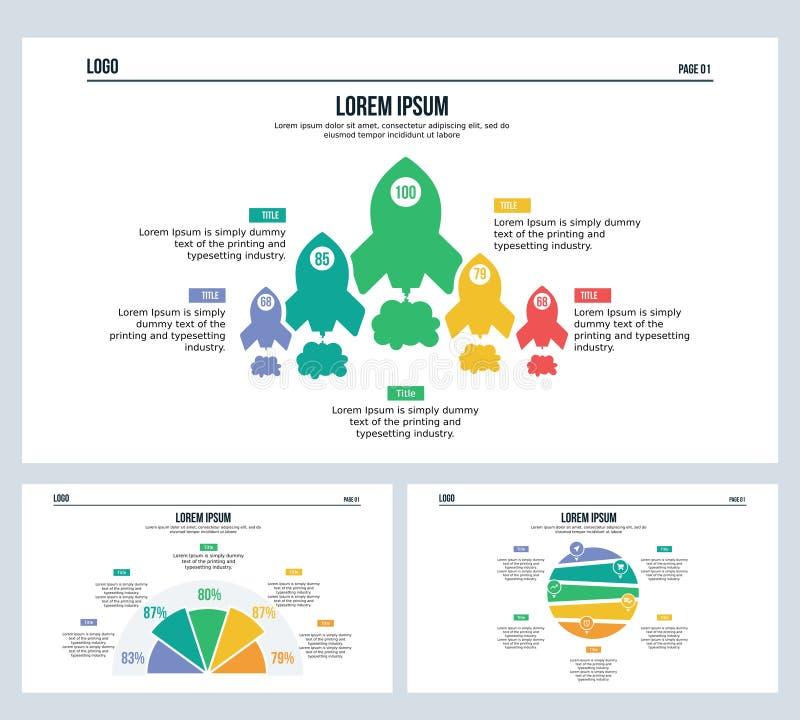 Molde sextavado do elemento de Infographic e cor completa de PowerPoint foto de stock royalty free
