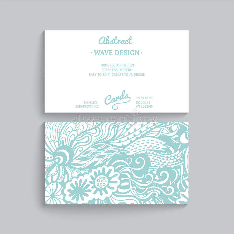 Molde simples do cartão do vetor com ornamento decorativo, ilustração stock