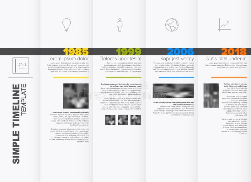 Molde simples do espaço temporal ilustração royalty free