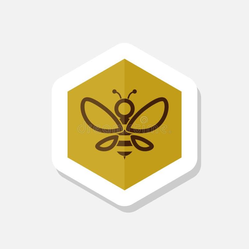 Molde simples do projeto abstrato do logotipo da abelha ilustração do vetor