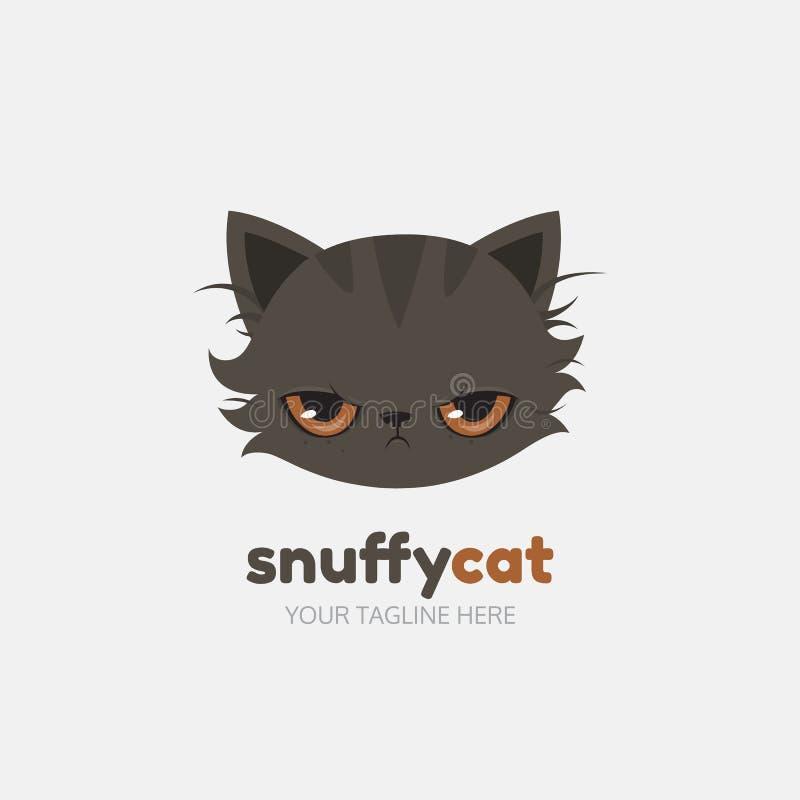 Molde Snuffy do logotipo do gato Vetor ilustração royalty free