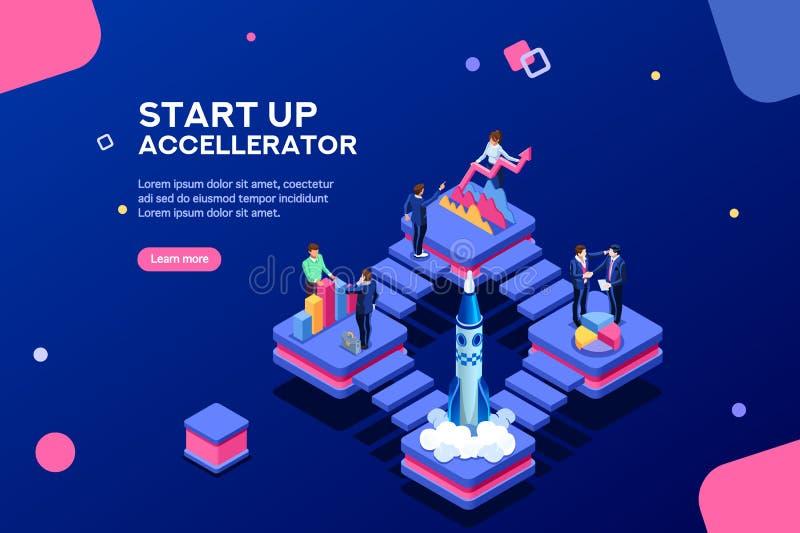 Molde Startup do seguro do produto para a página de aterrissagem ilustração stock