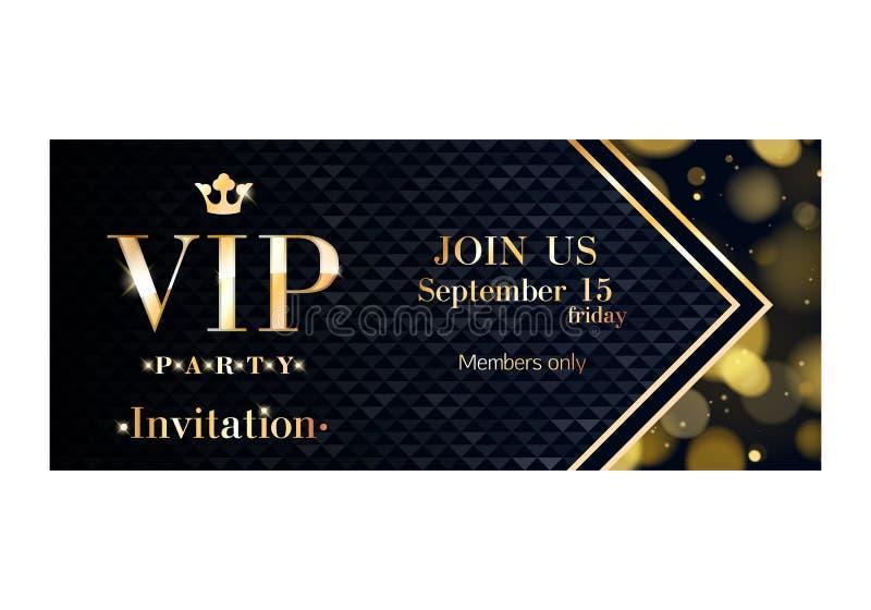 Molde superior do projeto do cartão do convite do VIP ilustração royalty free