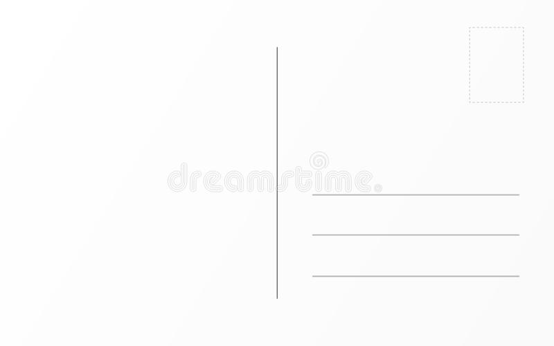 Molde traseiro do cartão velho Molde do projeto de cartão postal do curso ilustração do vetor