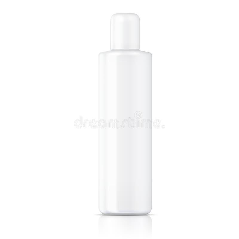 Molde tubular branco da garrafa. ilustração royalty free