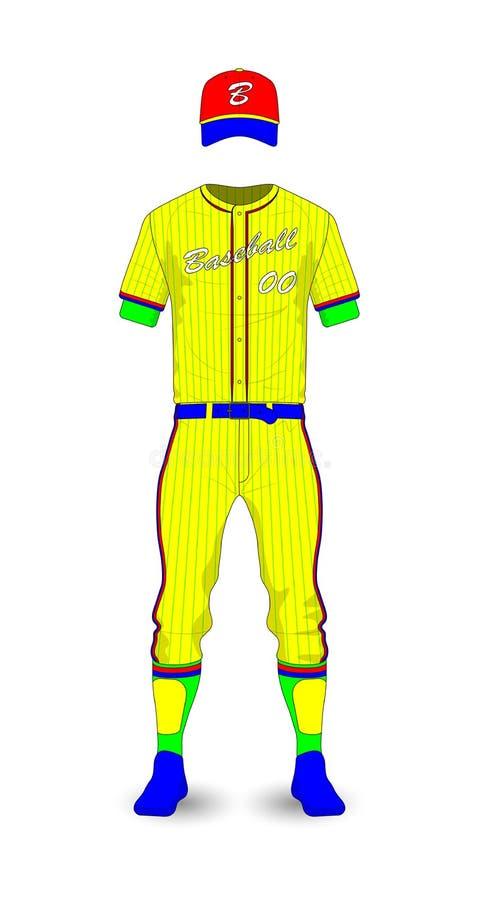 Molde uniforme do basebol ilustração do vetor