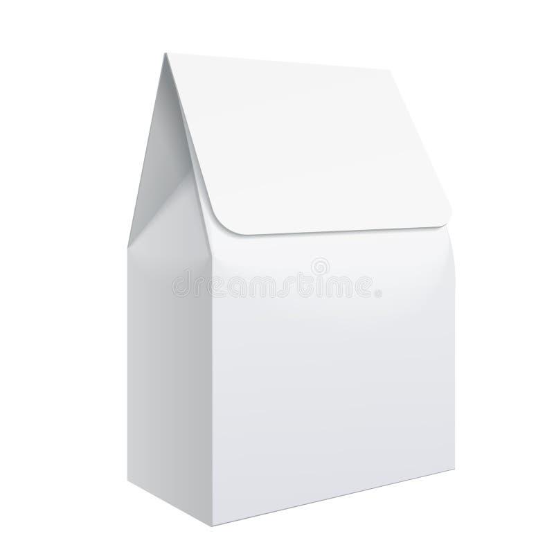 Molde vazio branco realístico que empacota para o alimento ilustração royalty free
