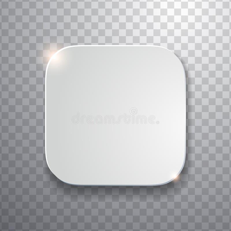 Molde vazio do ícone do app com textura branca flatted ilustração stock