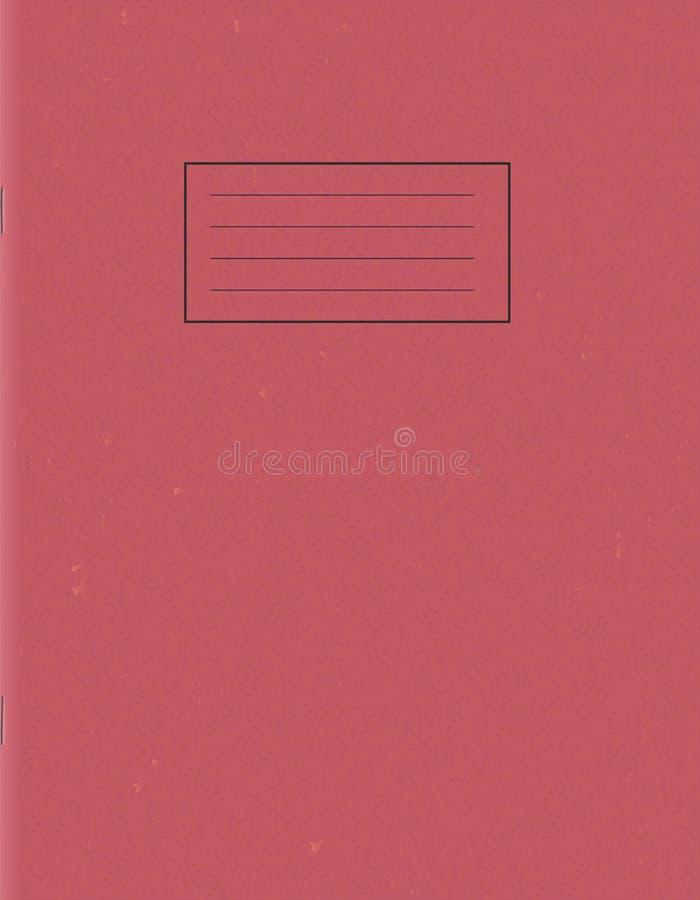 Molde vazio do bloco de notas da escola Capa do livro vazia do exercício ilustração royalty free