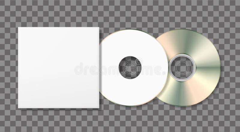 Molde vazio do disco e do caso ilustração stock
