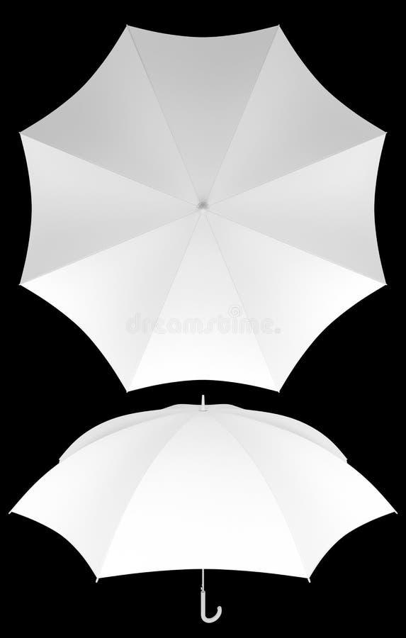 Molde vazio do guarda-chuva isolado ilustração do vetor