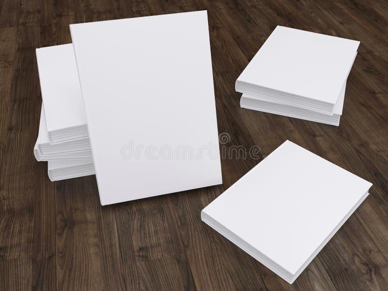 Molde vazio do modelo do livro foto de stock