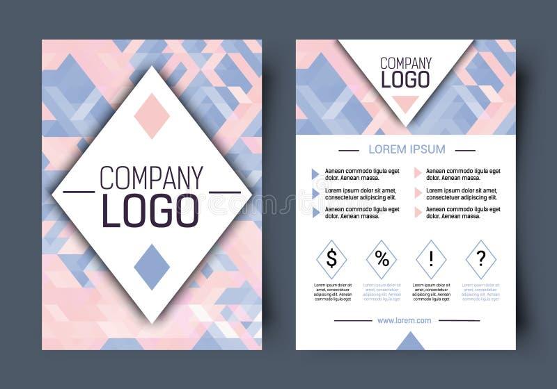 Molde vazio incorporado do folheto do vetor Primeira página e página traseira ilustração royalty free
