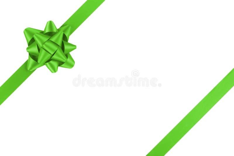 Molde verde da fita para empacotar com curva do presente imagem de stock