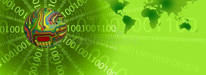 Molde verde da tecnologia ilustração do vetor