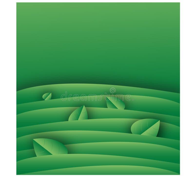 Molde verde do fundo com folhas fotos de stock royalty free