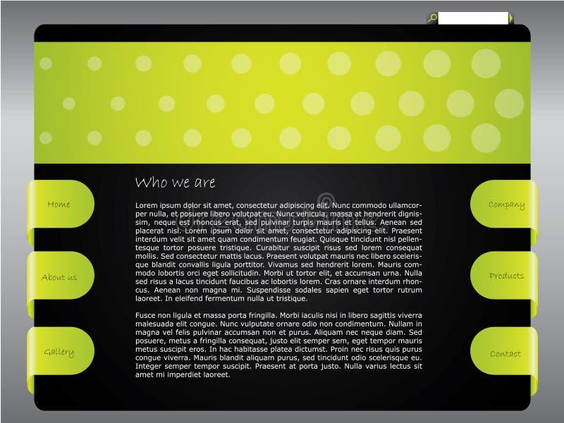 Molde verde pontilhado do Web site ilustração stock