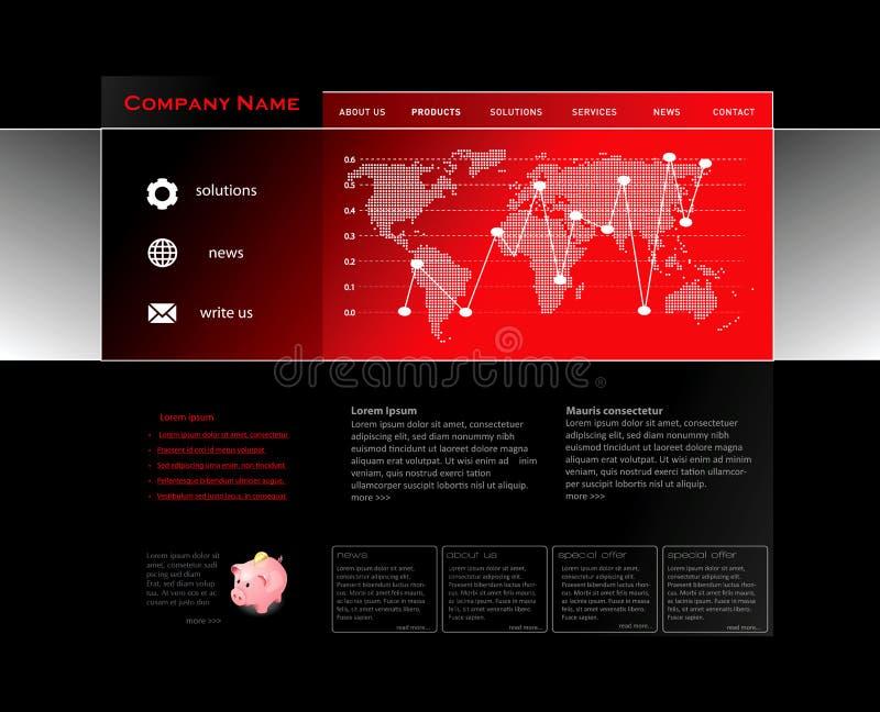 Molde vermelho do Web site ilustração royalty free