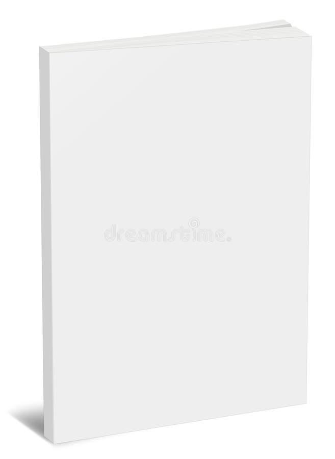 Molde vertical vazio do livro imagem de stock