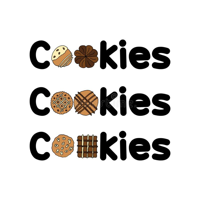 Molde vol do logotipo dos grupos das cookies 2 ilustração royalty free