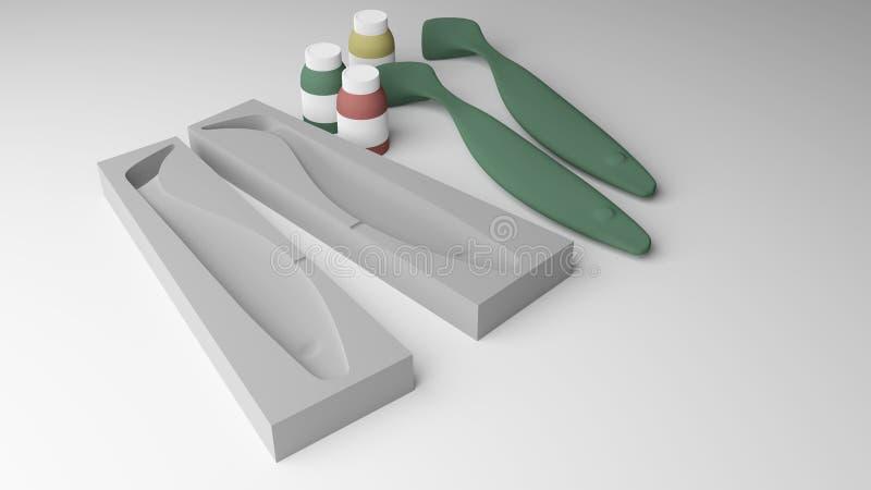 Moldeado del señuelo ilustración del vector