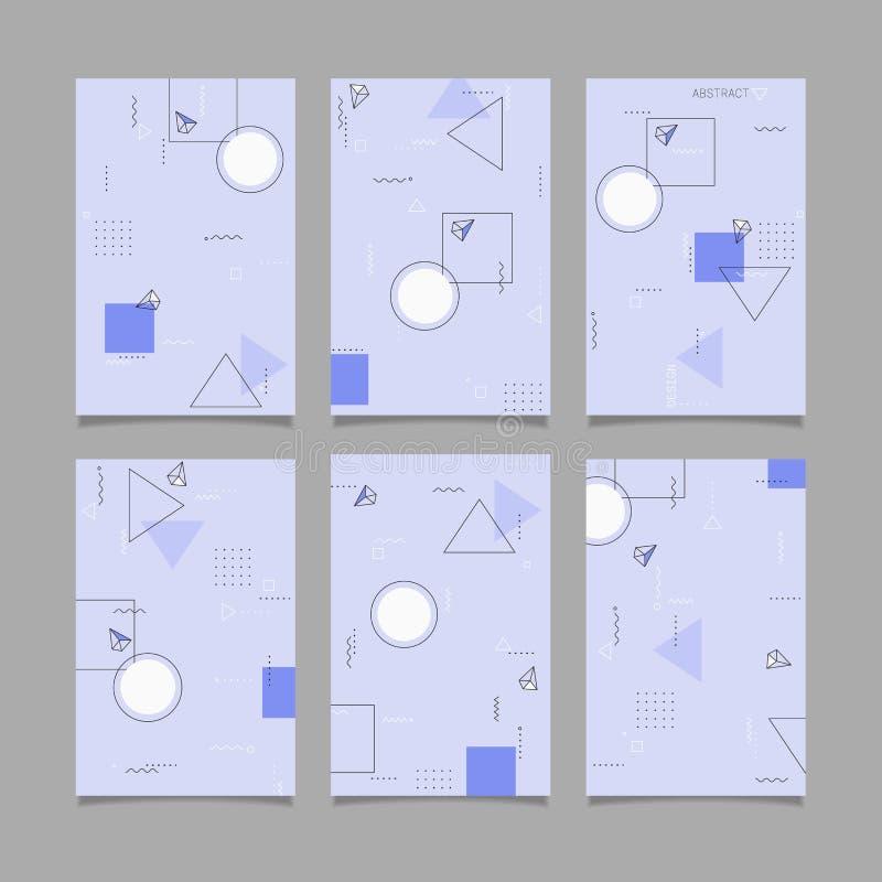 Moldes abstratos das bandeiras do projeto geométrico do vetor ilustração royalty free