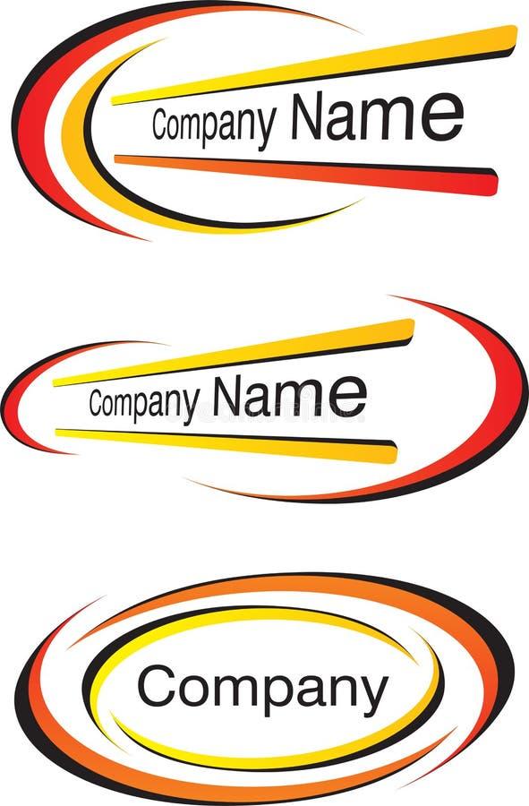 Moldes corporativos do logotipo ilustração do vetor
