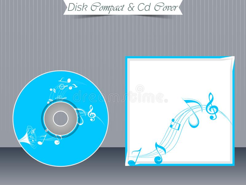 Moldes da caixa do CD ou do DVD ilustração royalty free