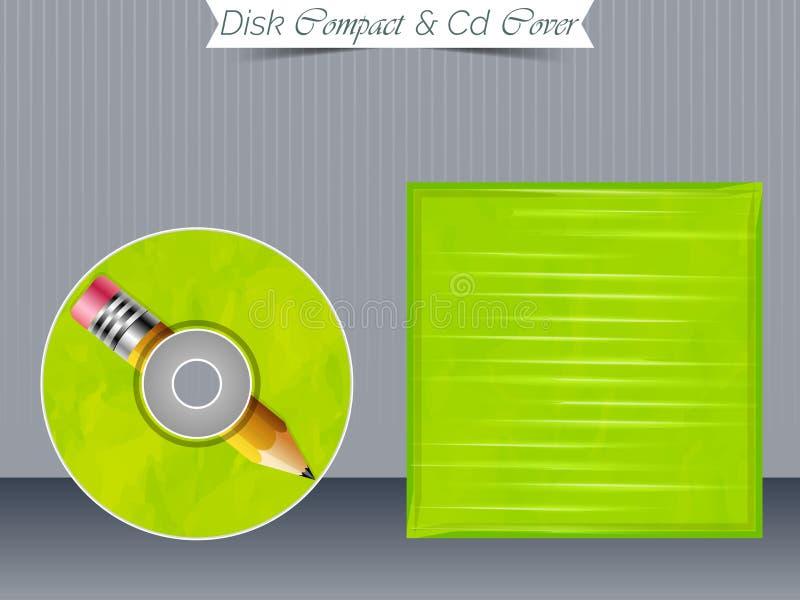 Moldes da caixa do CD ou do DVD ilustração stock
