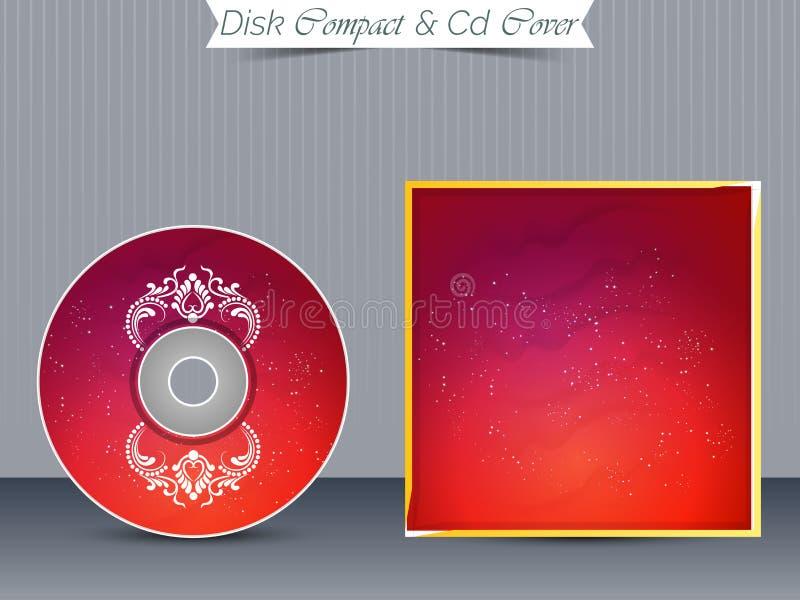 Moldes da caixa do CD ou do DVD ilustração do vetor