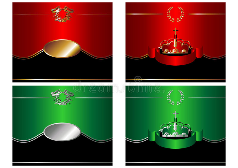 Moldes da etiqueta ilustração royalty free