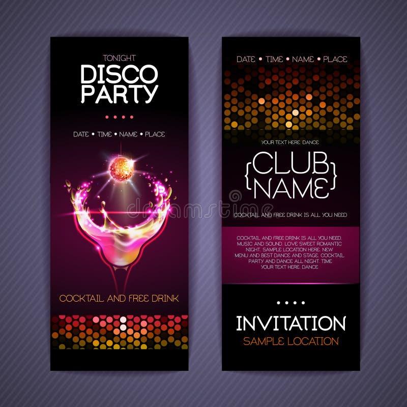 Moldes da identidade corporativa do disco cocktail ilustração stock