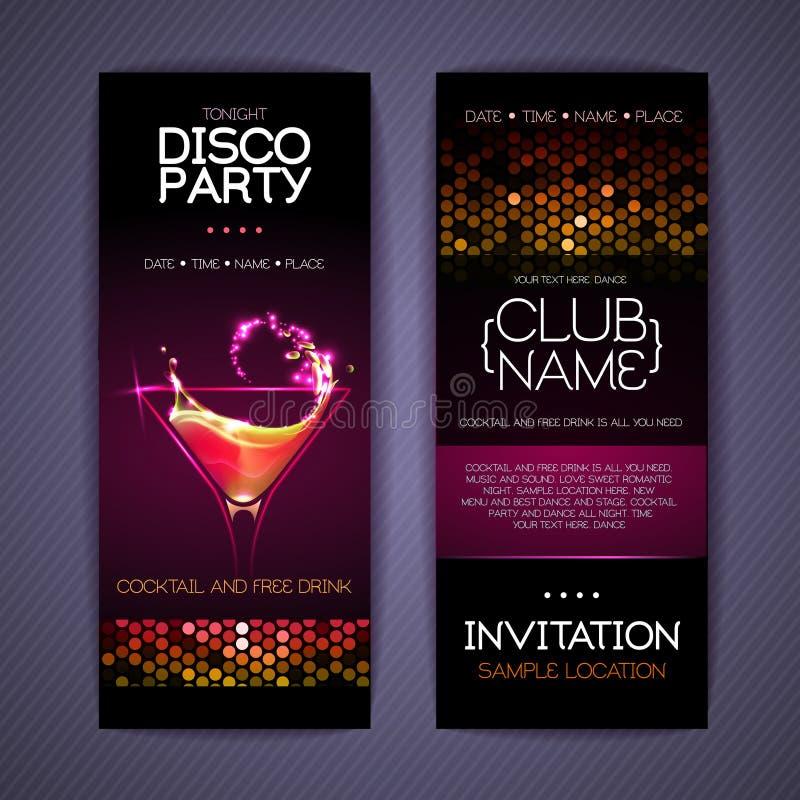 Moldes da identidade corporativa do disco cocktail ilustração royalty free