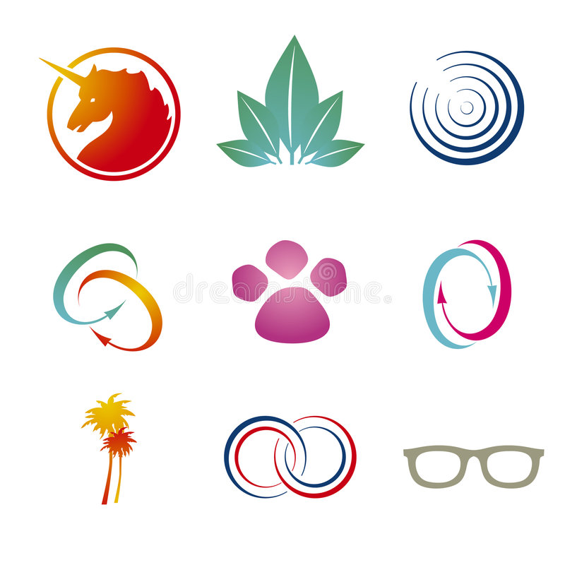 Moldes da marcagem com ferro quente/logotipo ilustração stock