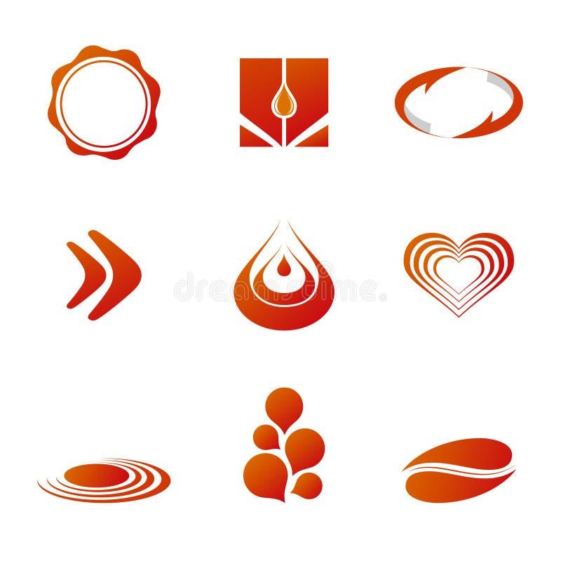 Moldes da marcagem com ferro quente/logotipo ilustração royalty free