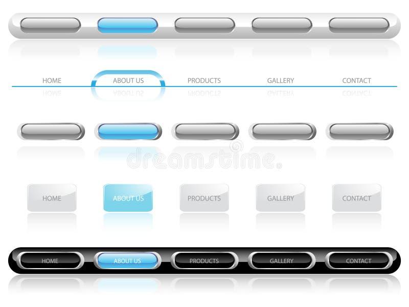 Moldes da navegação do Web site imagens de stock