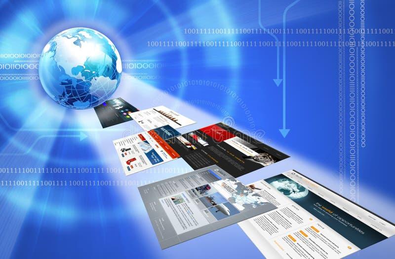 Moldes da terra e do Web ilustração stock
