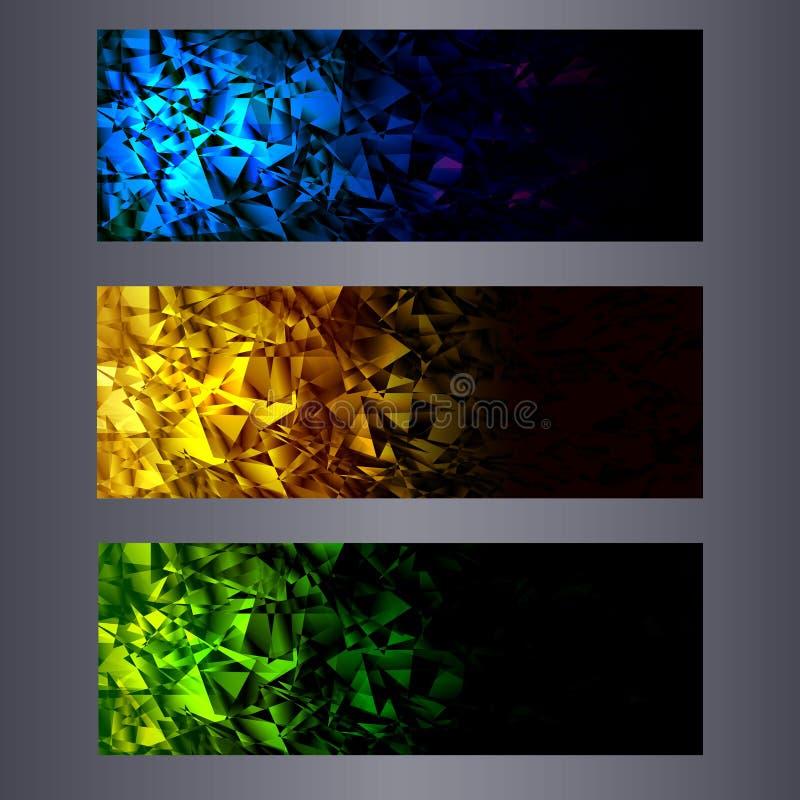 Moldes das bandeiras do Web site Abstraia fundos ilustração stock