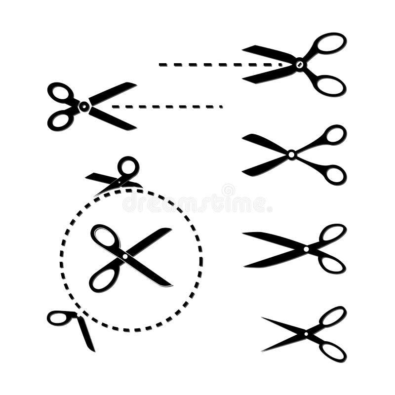 Moldes das tesouras ilustração do vetor