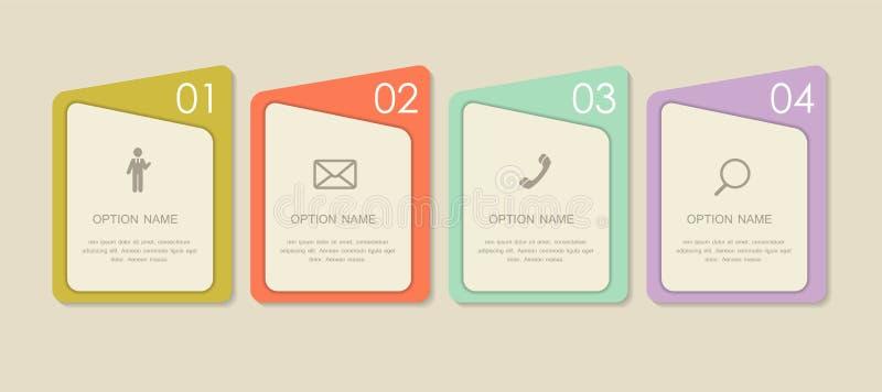 Moldes de Infographic para o vetor do negócio fotografia de stock