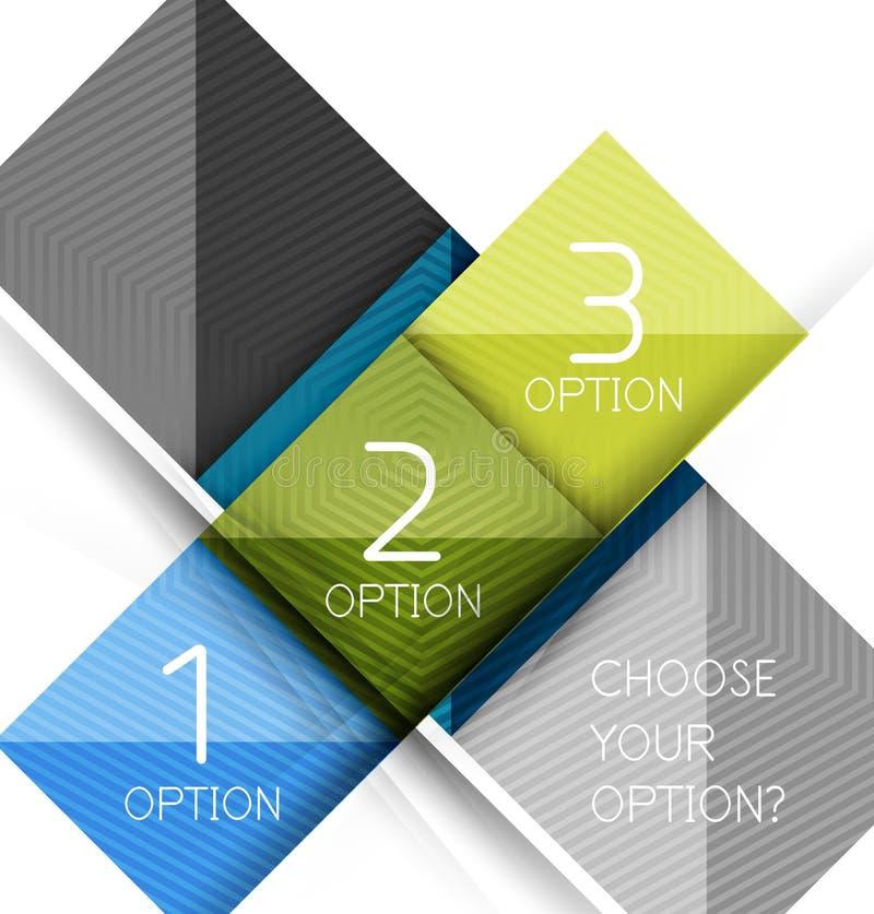 Moldes de papel do projeto do estilo, sumário do quadrado ilustração stock