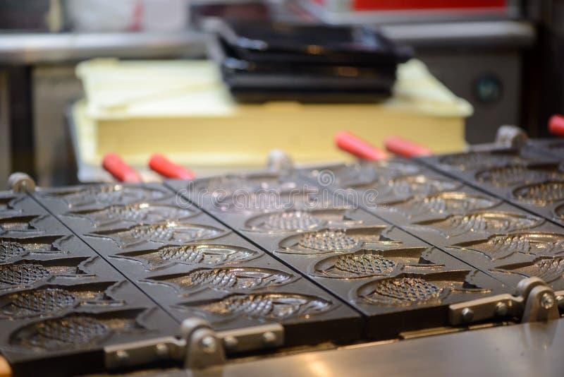 Moldes del taiyaki del hierro, Fukuoka, Japón imagen de archivo libre de regalías