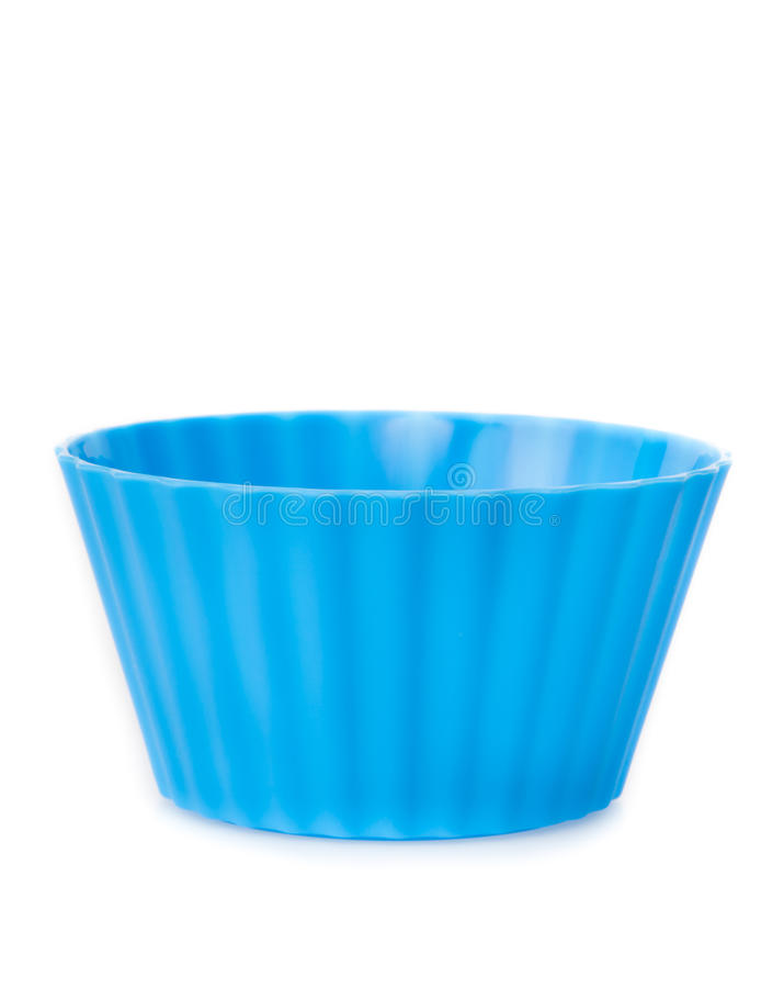 Moldes do muffin e do queque de Colorfull foto de stock