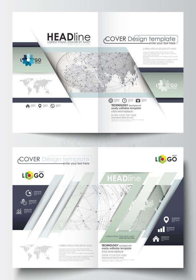 Moldes do negócio para o folheto, o compartimento, o inseto, a brochura ou o relatório Cubra o projeto, molde editável fácil, dis ilustração stock
