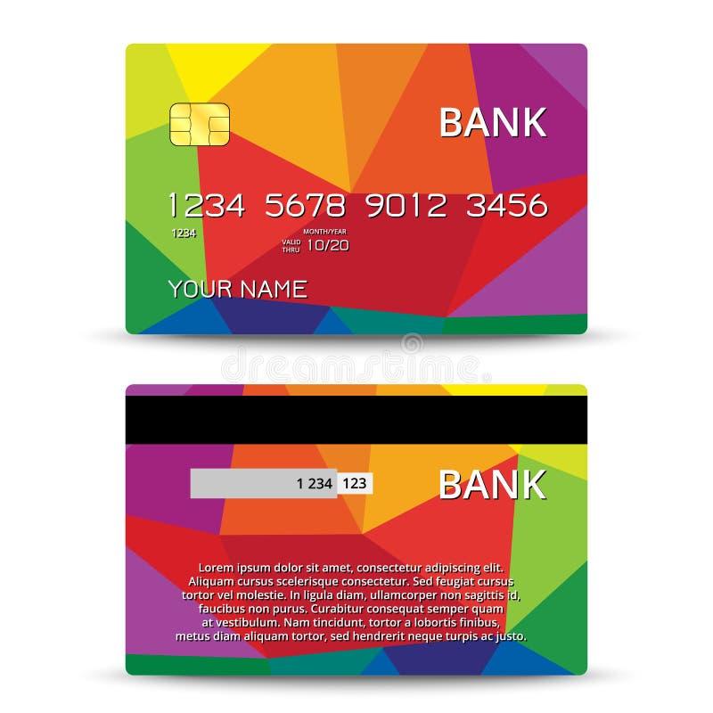 Moldes do projeto de cartões do crédito ilustração do vetor
