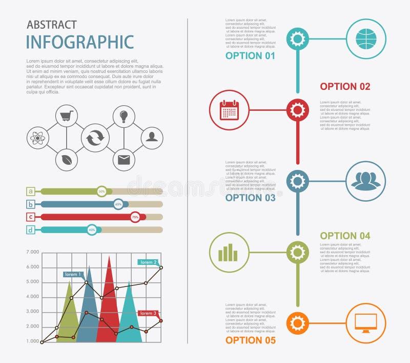 Moldes do projeto de Infographic Página abstrata da apresentação ilustração royalty free