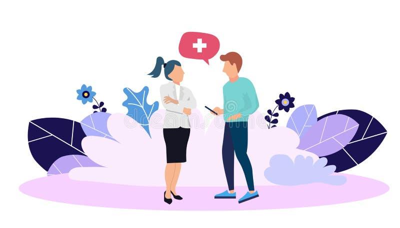 Moldes do projeto do página da web para o apoio médico em linha, seguro de saúde, laboratório, serviços médicos Ilustração modern ilustração do vetor