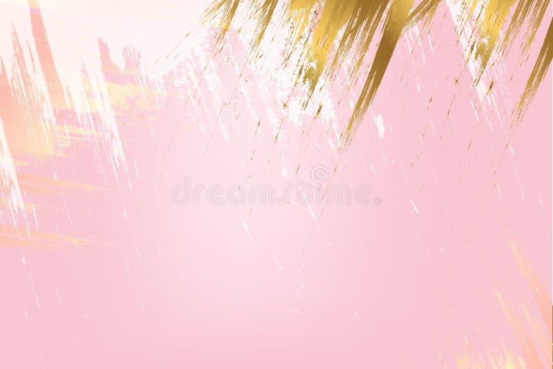 Moldes do projeto para a empresa Cores pastel e cursos da escova do ouro ilustração royalty free